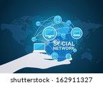 social network vector    Shutterstock .eps vector #162911327