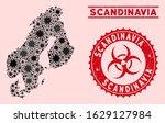 coronavirus collage scandinavia ... | Shutterstock .eps vector #1629127984