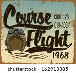 course flight print vector | Shutterstock .eps vector #162913385