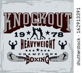 boxing print vector | Shutterstock .eps vector #162913391
