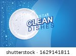 white wet clean plate with... | Shutterstock .eps vector #1629141811