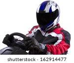 racerwearing red racing suit... | Shutterstock . vector #162914477