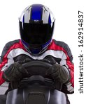 racerwearing red racing suit... | Shutterstock . vector #162914837