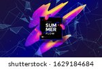 summer flow wide poster design... | Shutterstock .eps vector #1629184684