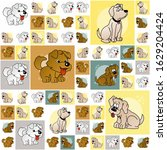 the amazing of cute dog...   Shutterstock . vector #1629204424