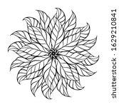 black and white anristress... | Shutterstock .eps vector #1629210841