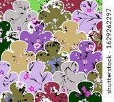 seamless hand draw flower... | Shutterstock . vector #1629262297