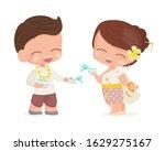 happy young couple enjoy...   Shutterstock .eps vector #1629275167