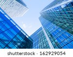 windows of skyscraper business... | Shutterstock . vector #162929054