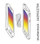 smartphone data share mockup.... | Shutterstock .eps vector #1629312754