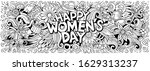 happy womens day hand drawn... | Shutterstock .eps vector #1629313237