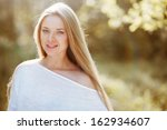 Outdoor portrait of a beautiful ...