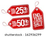 End Of Year Sale Savings Label...