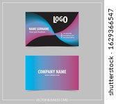 modern business card design... | Shutterstock .eps vector #1629366547
