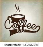 coffee design over vintage ... | Shutterstock .eps vector #162937841