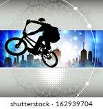 cyclist illustration | Shutterstock . vector #162939704