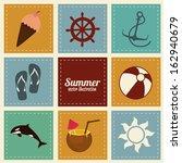 summer design over white ... | Shutterstock .eps vector #162940679