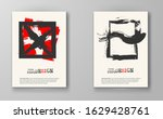 abstract vintage poster set.... | Shutterstock .eps vector #1629428761