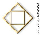golden modern frame border... | Shutterstock .eps vector #1629434347