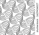 seamless abstract weavy lines... | Shutterstock .eps vector #1629436027