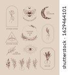 abstract vector logo design in...   Shutterstock .eps vector #1629464101