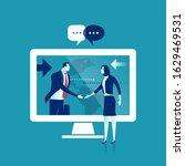 global business businessmen... | Shutterstock .eps vector #1629469531