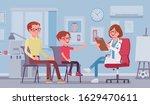 child pediatric check up...   Shutterstock .eps vector #1629470611