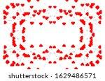heart frame on a white... | Shutterstock . vector #1629486571