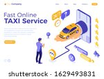 online internet taxi 24 hour...   Shutterstock .eps vector #1629493831