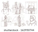love story  coloring book  | Shutterstock .eps vector #162950744