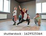 Group Of Cute Little Boys In...