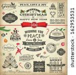 christmas design elements in... | Shutterstock .eps vector #162953531