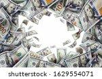 pile flying money american one... | Shutterstock . vector #1629554071