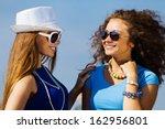 attractive young women having... | Shutterstock . vector #162956801