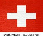 Flag Of Switzerland On Bricks...