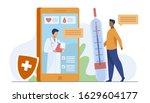 online doctor support via... | Shutterstock .eps vector #1629604177