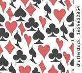 playing card suit seamless... | Shutterstock .eps vector #1629632854