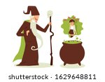 evil sorcerer cast spell on... | Shutterstock .eps vector #1629648811