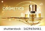 oil perfume bottle with gold... | Shutterstock .eps vector #1629656461