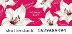 happy women's day. horizontal... | Shutterstock .eps vector #1629689494