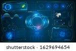 ui hud system virtual... | Shutterstock .eps vector #1629694654