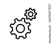 setting gear icon. simple... | Shutterstock .eps vector #1629697357