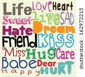 doodle text | Shutterstock .eps vector #162972215
