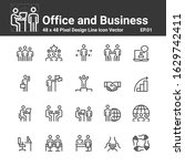 office and business icons ...   Shutterstock .eps vector #1629742411