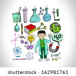 science object in doodle style... | Shutterstock .eps vector #162981761
