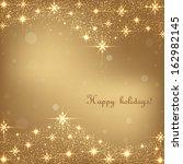beautiful gold christmas... | Shutterstock .eps vector #162982145
