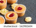 Freshly Made Cupcakes With Jam...