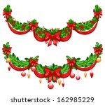 two beautiful christmas... | Shutterstock .eps vector #162985229