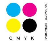 cmyk print colors icon  vector.   Shutterstock .eps vector #1629903721