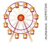 Ferris Wheel. Vector...